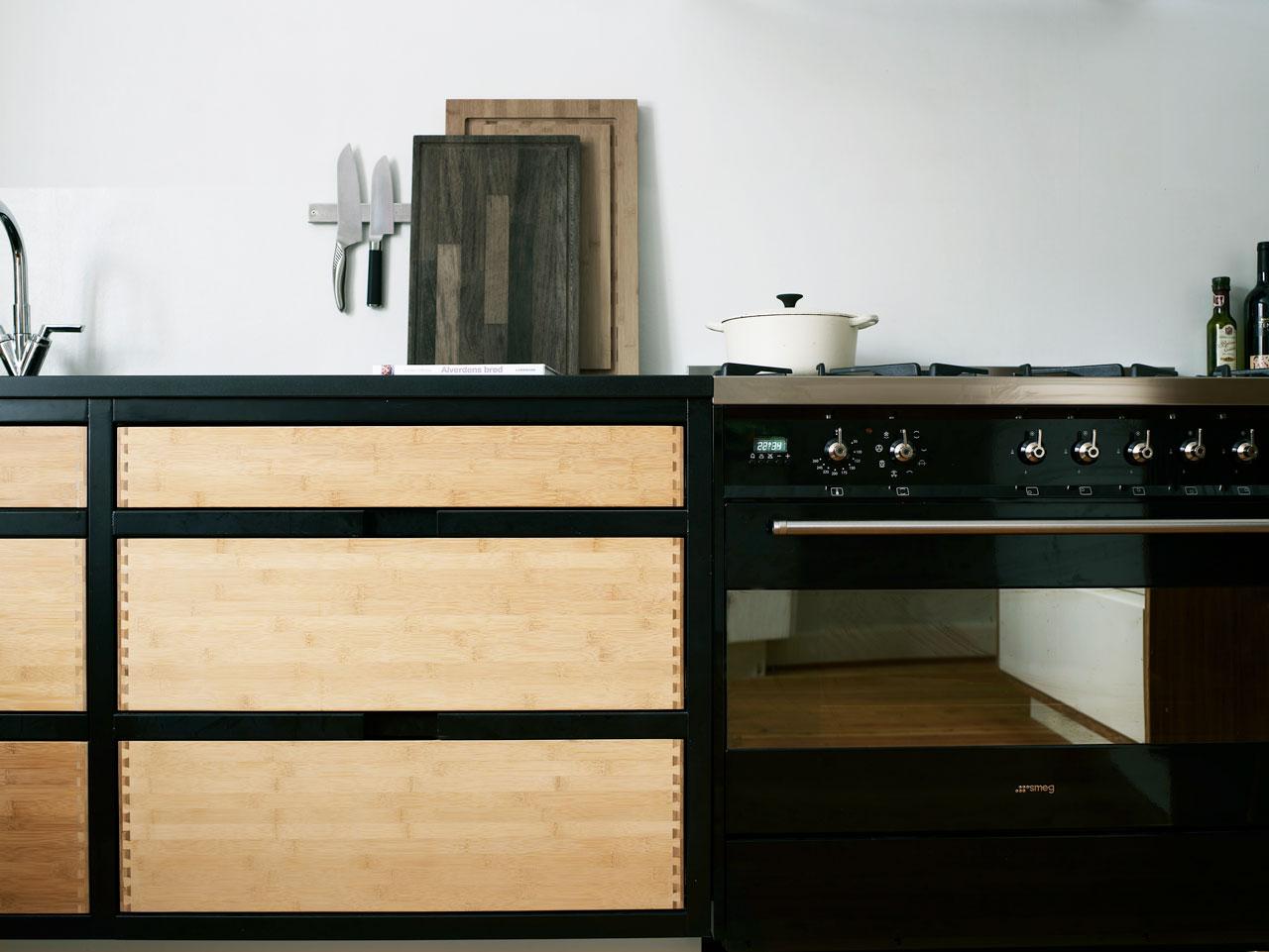 Bambus med sort ramme   køkkenskaberne